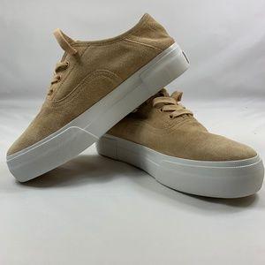 VINCE Copley Womens Tan Suede Shoes Size 7.5M NWOT